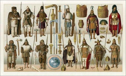 qualche idea su com'erano vestiti i barbari