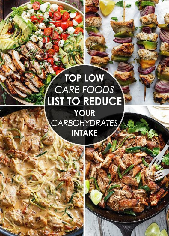 Top Low Carb Foods List to Reduce Your Carbohydrates