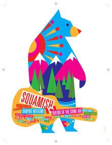 SQUAMISH MUSIC FESTIVAL - MACKLEMORE - VAMPIRE WEEKEND - QOTSA - TOUR POSTER