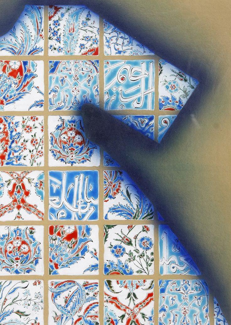 Selçuk Çinili Kaftan Minyatür.  Taner Alakuş Minyatür Atölyesi