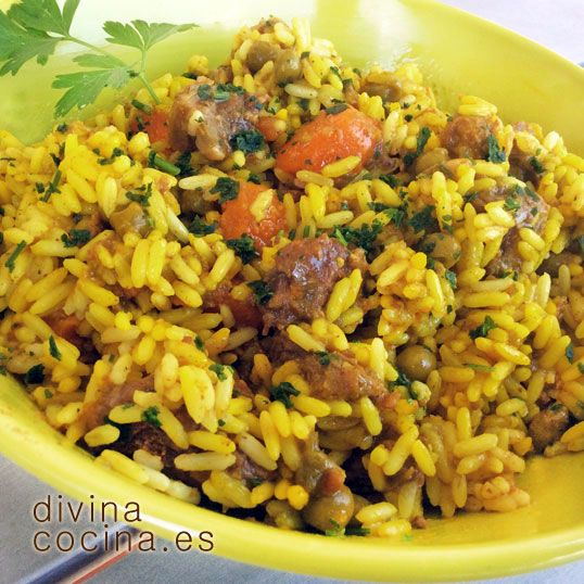 Arroz rápido de carne y verduras » Divina CocinaRecetas fáciles, cocina andaluza y del mundo. » Divina Cocina