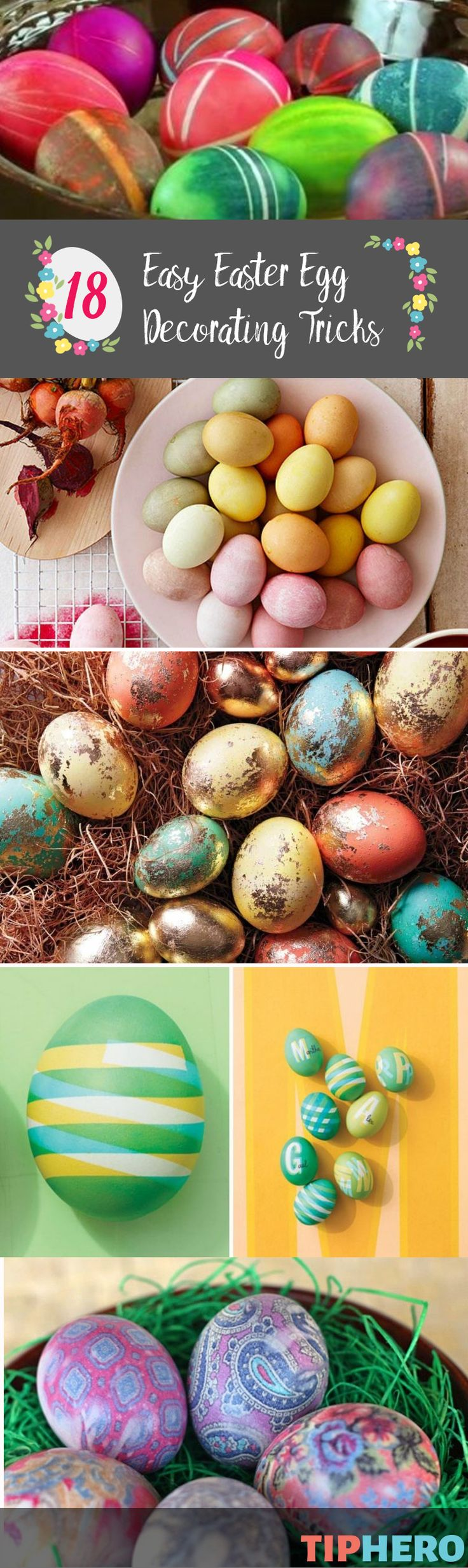 18 Easy Tricks to Create the Most Beautiful Easter Eggs You've Ever Seen