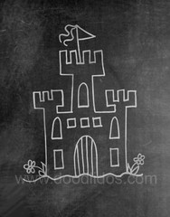 Castle Chalkboard Print http://doodlidos.myshopify.com/collections/chalkboard-art-prints#