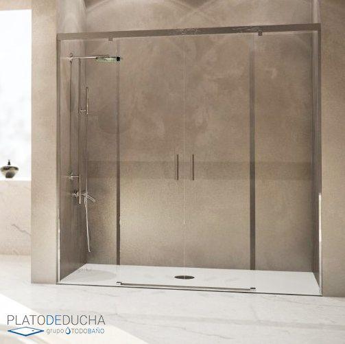 Mampara de ducha fedra de seviban con cristales - Cristales para banos ...