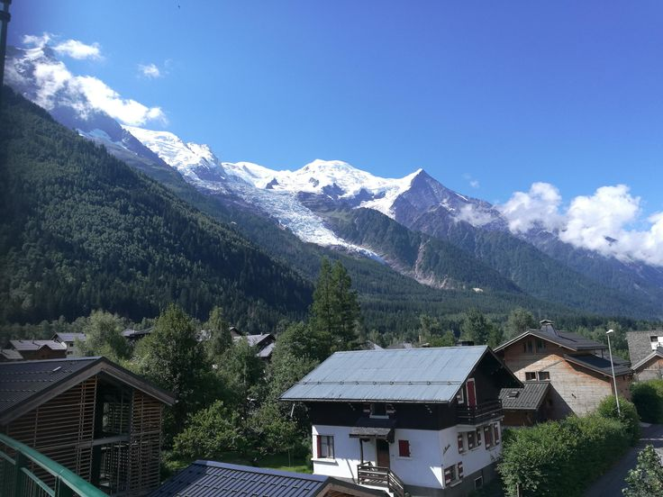 View of Mont Blanc from the montain village Chamonix France [3968x2976]