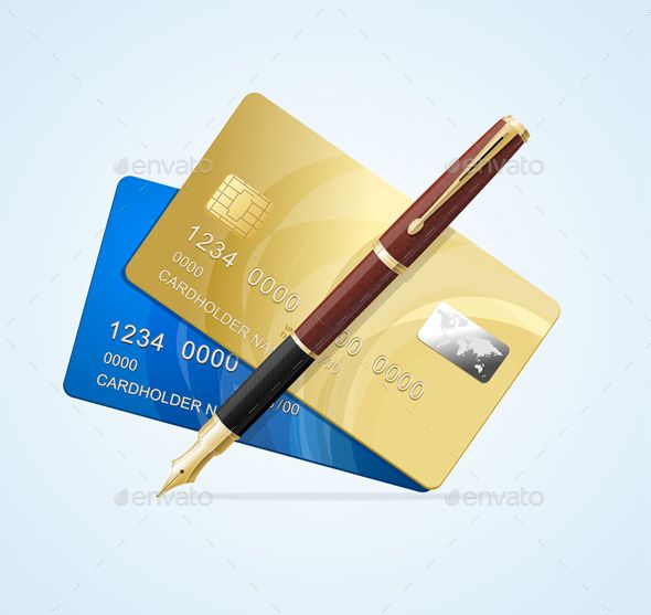 Card and Pen Business Concept