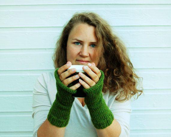 Fingerless mittens  Warm handwarmers by FindingNorth on Etsy