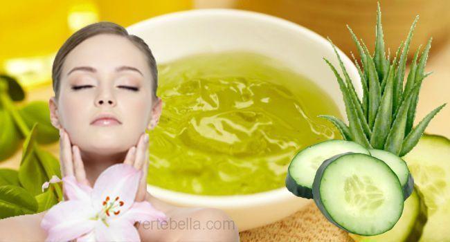 Mascarilla De Pepino Y Aloe Vera Para Rejuvenecer El Rostro Dry Skin Care Skin Care Women Skin Cleanser Products