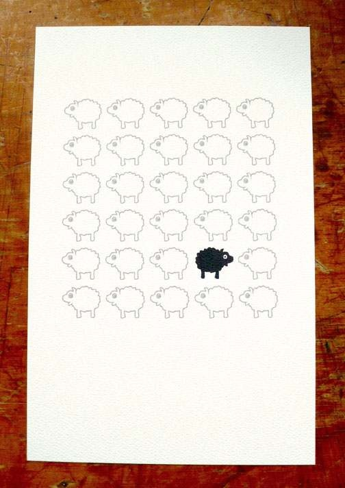 Bah Bah Black Sheep Print