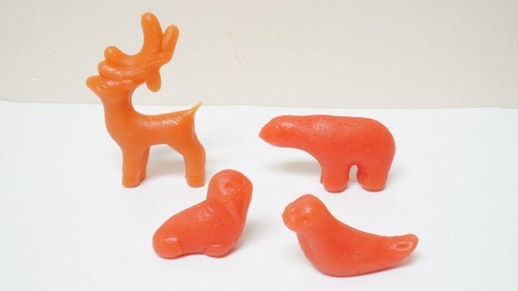 """Набор """"Север"""". Набор игрушек Северный полюс (олень, тюлень, морж, белый медведь). Советские игрушки - http://samoe-vazhnoe.blogspot.ru/ #фигурки_полиэтилен #игрушки_зоопарк"""