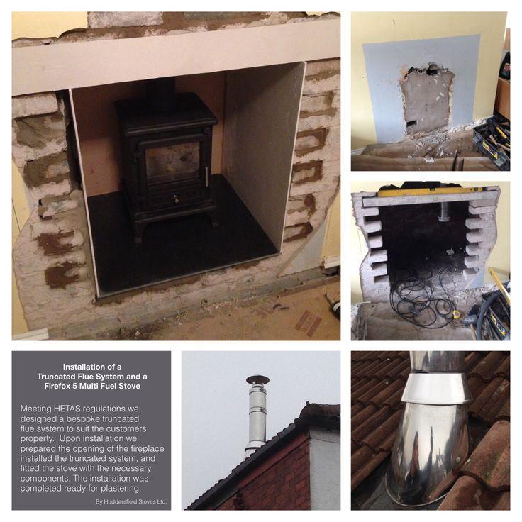 #Stove #installation #multifuel stove #woodburning stove #huddersfield #yorkshire #home #design #decor #living #chimney #firefox #truncated