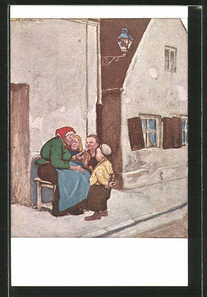 Künstler-AK G. Hirth\'s Verlag, Serie XXIX, 4: Die Märchenerzählerin, Kinder und…