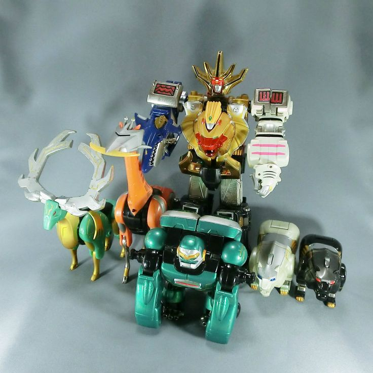 Bandai Power Rangers Wild Force Gaoranger DX Gaoking + Animal Zords Megazord #Bandai