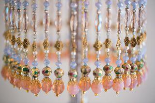 Nightshades -Cinderella Lampshade with Silver Lace