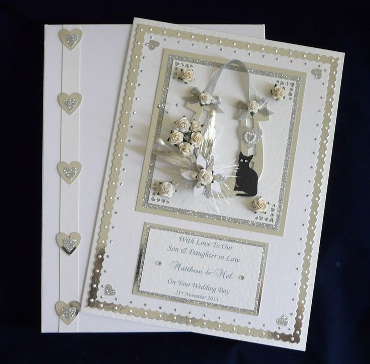 Large Handmade Personalised Boxed Horseshoe Wedding Day Congratulations Card For Son Daughter Granddaughter Grandson Special Couple Friends