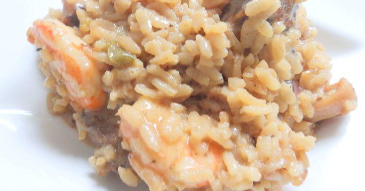 Fabulosa receta para Risotto con gambas y sépia con mascarpone y parmesano. cuinadelamare.com