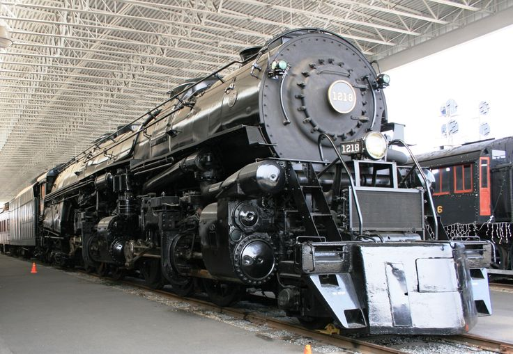 First Team Auto Mall >> One of the last large steam locomotives built by the Norfolk and Western at their stops in ...