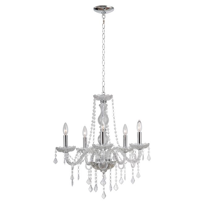 """Chic Tailor Made Chandeliers That Shine With Elegance: """"Shine"""" 5-Light Chandelier"""