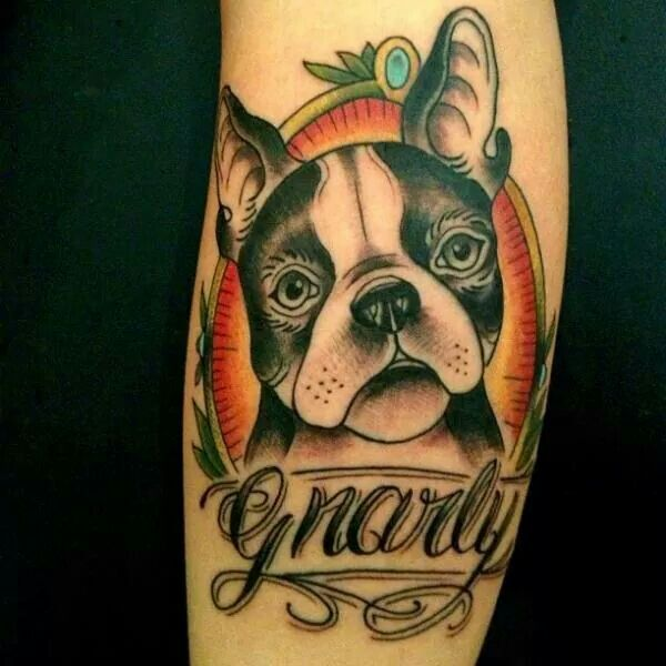 15 best tattoo traditional dogs images on Pinterest ...
