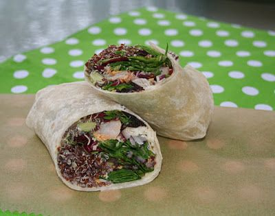 The Country Tart: Red Quinoa Wrapped Up ~ 2 Ways
