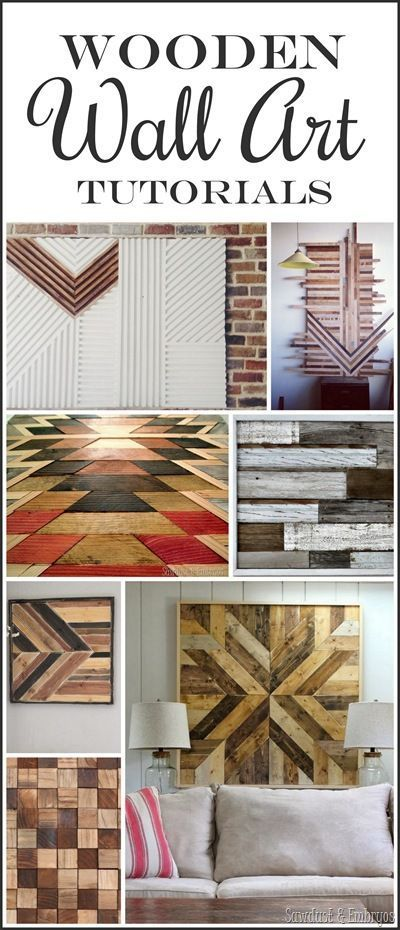 Awesome wooden artwork inspiration and tutorials. Great for wood scraps, wood shims, or pallet wood! {Sawdust and Embryos}