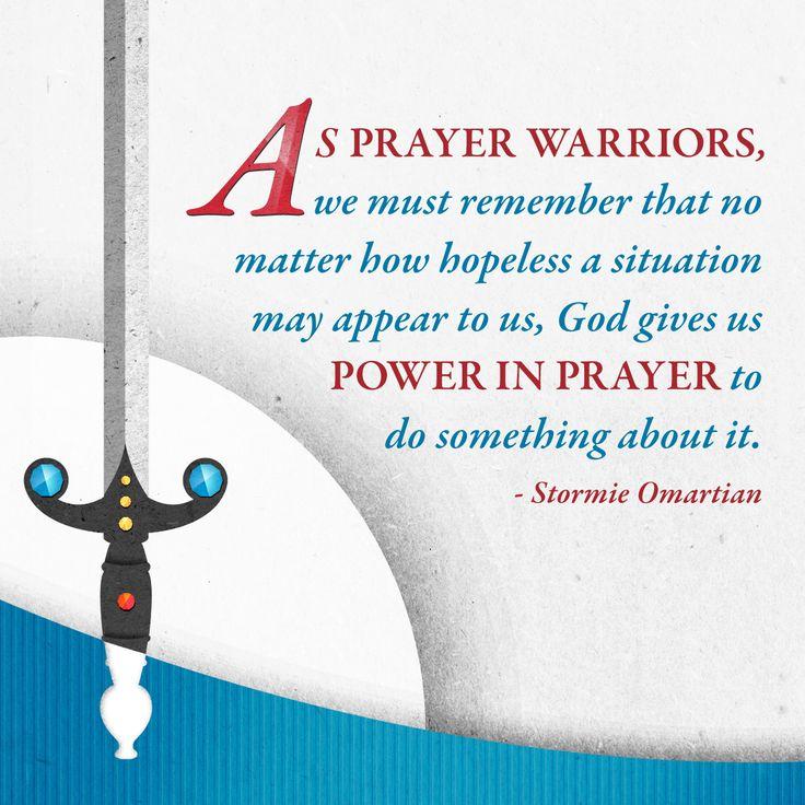 Let's Be Prayer Warriors!!
