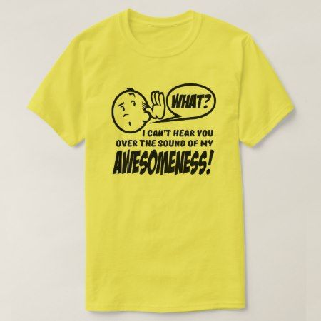 I can't hear you over the sound of my Awesomeness T-Shirt - click to get yours right now!