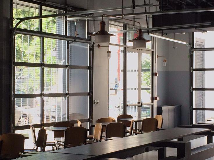 11 best restaurant glass garage doors images on pinterest for Bergen garage door