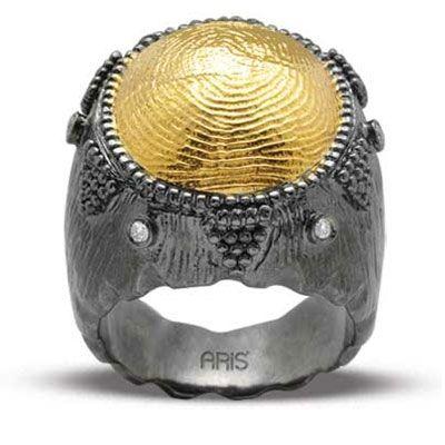 Pırlantalı 18 Ayar Altın Parmak İzi Yüzük, parmak izi koleksiyonu, hediye, özel tasarım