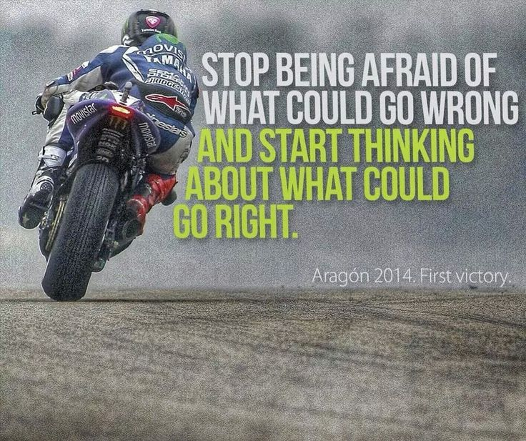 RIDE - Stop being afraid of what couşd go wrong and start thinking about what could go right