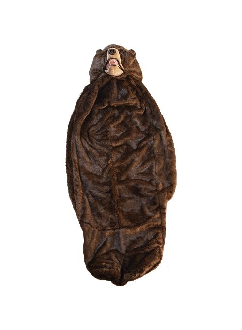 Saco de dormir em formato de urso ? PQP !