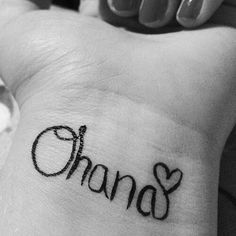 ohana tattoo with flower left shoulder with the mickey balloon going up