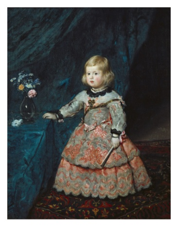 Infanta Margarita Teresa in a Pink Gown by Diego Velázquez. Giclee print from Art.com.