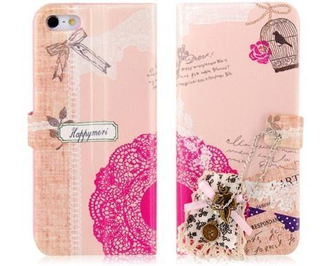 Bu romantik desenli, deri görünümlü, çok şık bir tasarıma sahip koruyucu kapak iPhone 5'inize çok yakışacak!