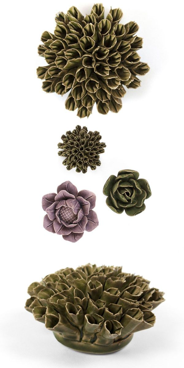Use your floral art for tabletop decorations, paperweights, or tuck them in with your houseplants. Or, create a work of art on your wall: each Dahlia has a keyhole on the back so it can be hung with ease.