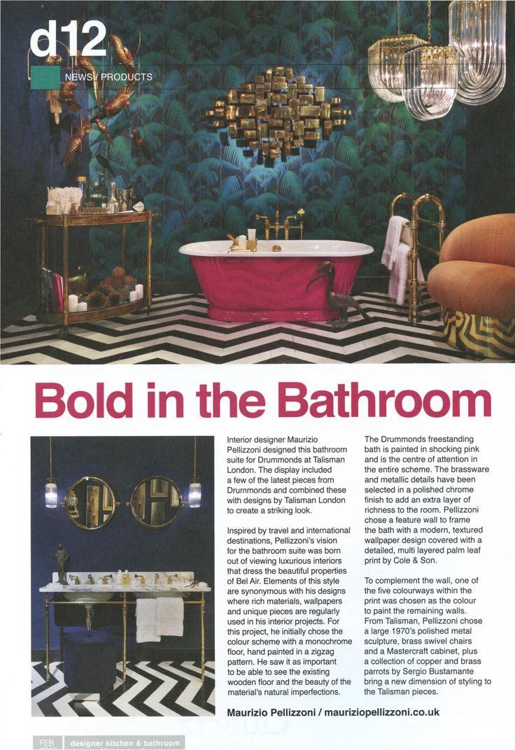 This elegant Art Deco inspired bathroom is fitted with beautiful Drummonds fittings. drummonds-uk.com Designer Kitchen & Bathroom February 2018