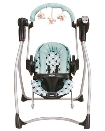 Swing/bouncer combo: a newborn baby lifesaver. Cady loved her swing and HATED her bouncer, but every baby is different. It's nice they make these now so you don't have to spend the dough on two separate products.
