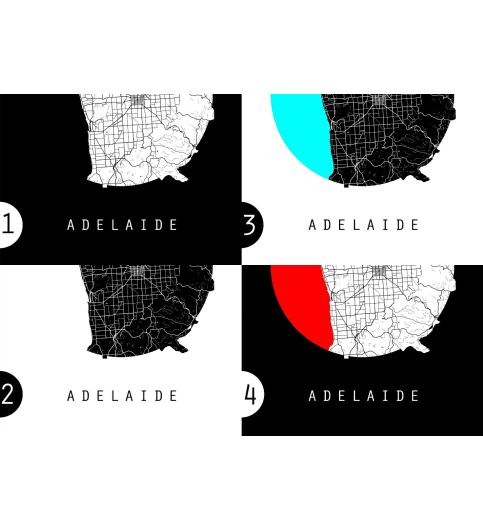 Adelaide Map Australia Map World Map Maps Poster Wall art Wall Decor Interior design Retro