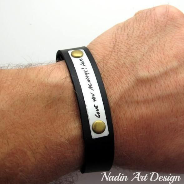 You Are Loved Bracelet for men nephew gift Personalized Leather Bracelet Engraved Mens Bracelet inspirational bracelet Boyfriend Gift