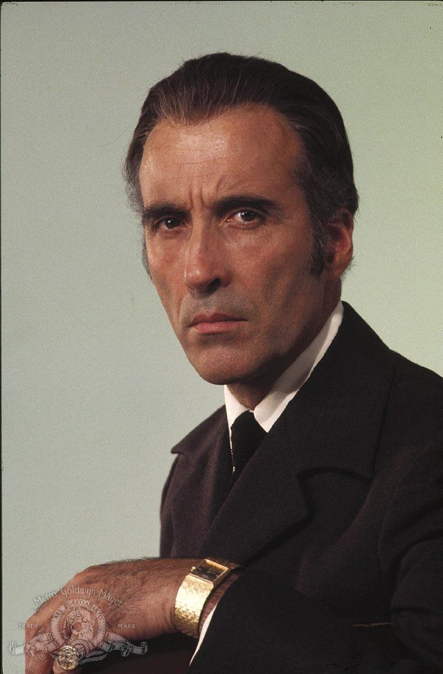 It's Christopher Lee.  This guy is more than an actor.  Look him up.