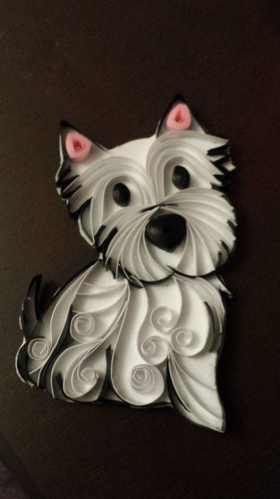 "Erika Newman on Twitter: ""A work quilling dog"