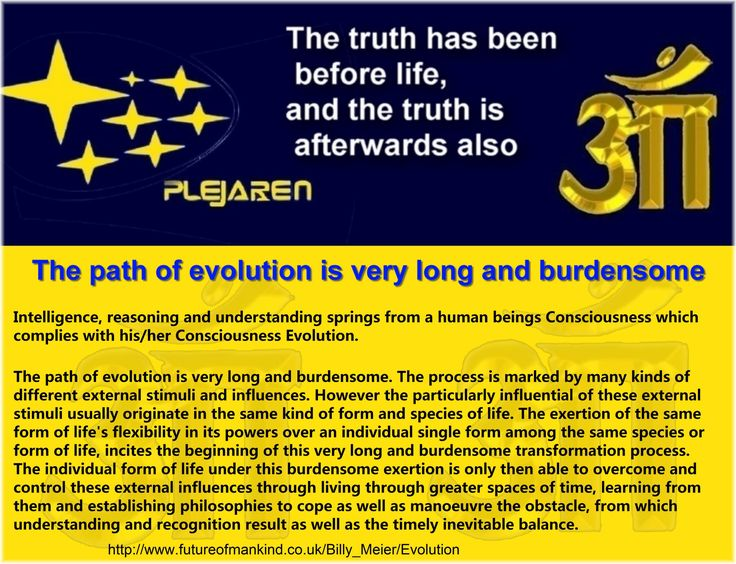 Intelligence, reasoning and understanding springs from a human beings Consciousness which complies with his/her Consciousness Evolution.  The path of evolution is very long and burdensome. The process is marked by many kinds of different external stimuli and influences. However the particularly influential of these external stimuli usually originate in the same kind of form and species of life. The exertion of the same form of life's flexibility in its powers over an individual single form…