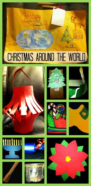 I want my future children to know that other people celebrate Christmas differently...each year, pick a new country to celebrate Christmas as!  And ALWAYS celebrate the real reason...Jesus!  Christmas Around The World Unit - Includes suitcase, passport, country crafts (China, Italy, Israel, Ethiopia, Holland, Germany, England, Sweden, Mexico, France), and more!