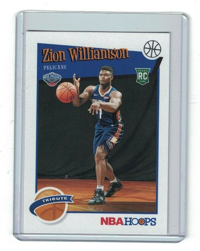 Zion Williamson Rookie 2019 20 Panini Hoops Basketball New Orleans Pelicans Neworleanspelicans In 2020 New Orleans Pelicans Pelican New Orleans