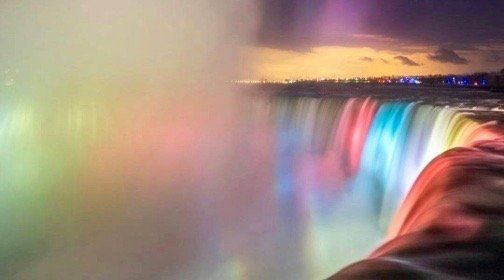 The official unveiling of the new and improved Falls Illumination in Niagara Parks took place on Thursday evening.