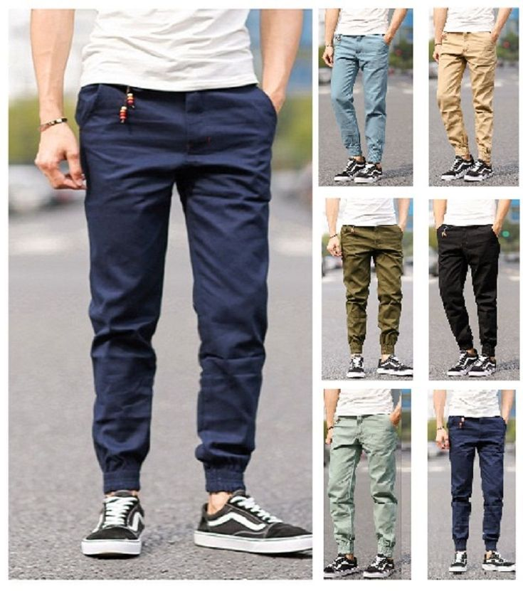Men Stylish Casual Pencil Jogger Pant Slim jeans Leisure Chino Trouser ( D006 )