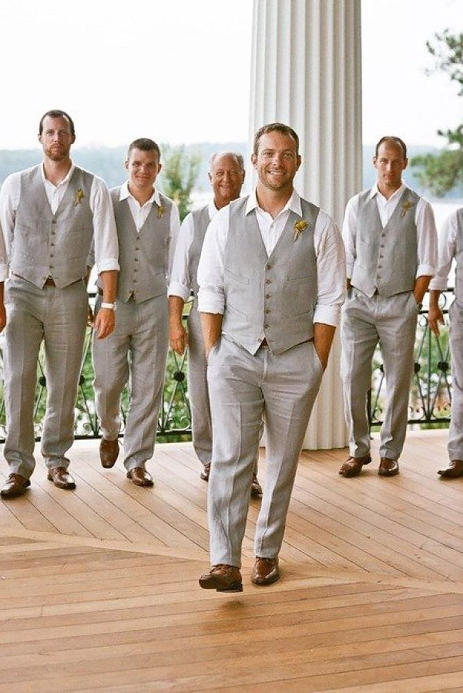 Beach wedding men attire