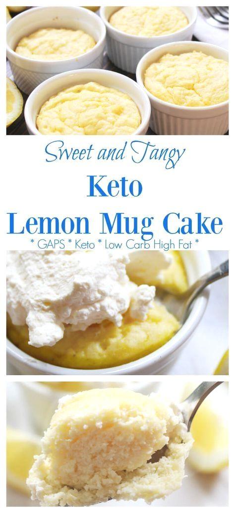 This ketogenic diet-friendly mug cake recipe serve…