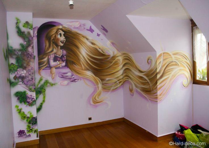 Rapunzel little girl's room. Ca peut donner des idées pour la salle de jeu des filles.