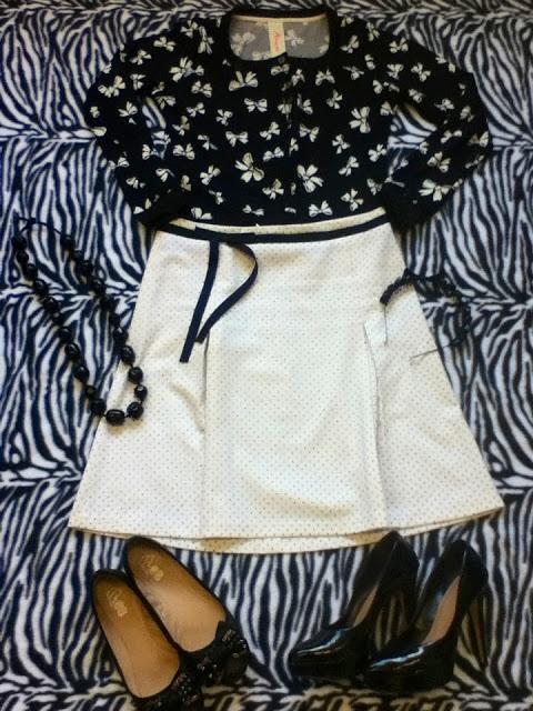 Piquis Piquis : Outfit post: Mezclando estampados en blanco y negro